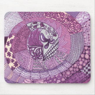 Vintage Patchwork - violet Mouse Pad