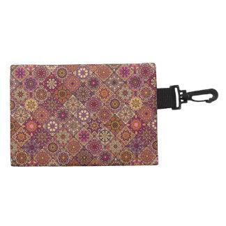 Vintage patchwork with floral mandala elements accessory bag