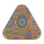 Vintage patchwork with floral mandala elements bluetooth speaker
