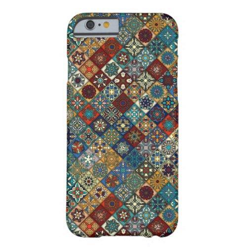 Vintage patchwork with floral mandala elements Phone Case