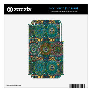 Vintage patchwork with floral mandala elements decal for iPod touch 4G