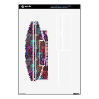 Vintage patchwork with floral mandala elements decal for the PS3