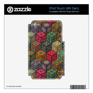 Vintage patchwork with floral mandala elements decals for iPod touch 4G