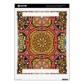 Vintage patchwork with floral mandala elements decals for the xbox 360