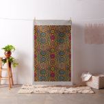 Vintage patchwork with floral mandala elements fabric