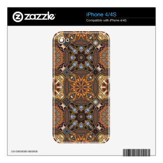 Vintage patchwork with floral mandala elements iPhone 4S skin