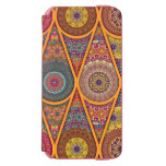 Vintage patchwork with floral mandala elements iPhone 6/6s wallet case