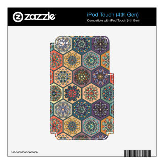 Vintage patchwork with floral mandala elements iPod touch 4G decal