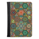Vintage patchwork with floral mandala elements kindle case