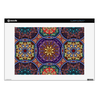 Vintage patchwork with floral mandala elements laptop skins