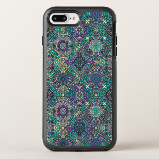 Vintage patchwork with floral mandala elements OtterBox symmetry iPhone 8 plus/7 plus case