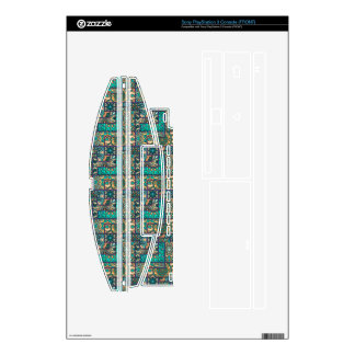 Vintage patchwork with floral mandala elements PS3 console decal