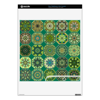 Vintage patchwork with floral mandala elements PS3 slim decal