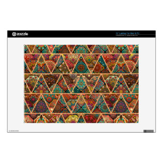 Vintage patchwork with floral mandala elements skin for laptop