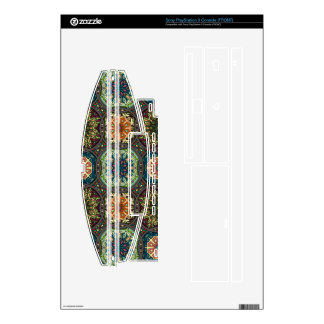 Vintage patchwork with floral mandala elements skin for PS3 console