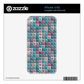 Vintage patchwork with floral mandala elements skin for the iPhone 4