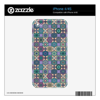 Vintage patchwork with floral mandala elements skin for the iPhone 4S