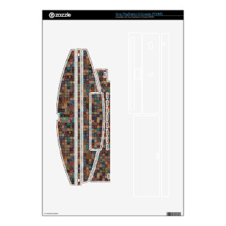 Vintage patchwork with floral mandala elements skin for the PS3