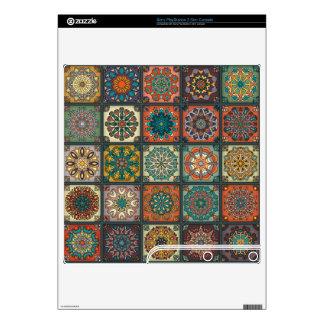 Vintage patchwork with floral mandala elements skin for the PS3 slim