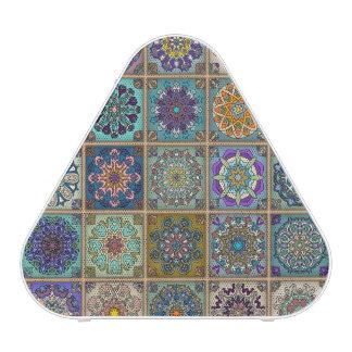 Vintage patchwork with floral mandala elements speaker