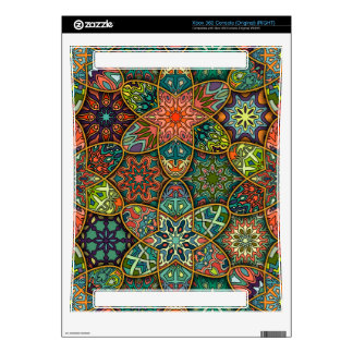 Vintage patchwork with floral mandala elements xbox 360 console skin