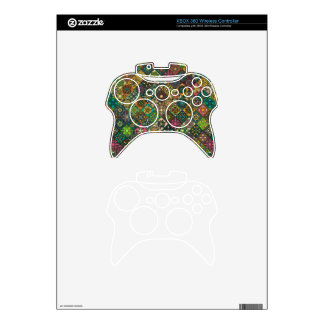 Vintage patchwork with floral mandala elements xbox 360 controller skin