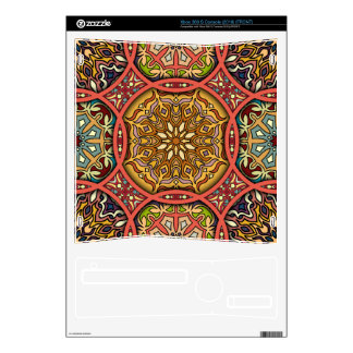 Vintage patchwork with floral mandala elements xbox 360 s decal