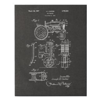 Vintage Patent Print 1957 Toy Farm Tractor