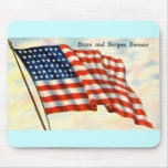 Vintage Patriotic 4th of July Mouse Pad