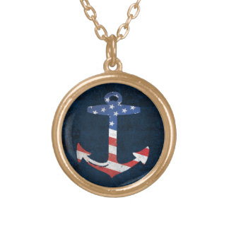 Vintage Patriotic American Flag Anchor Nautical US Custom Jewelry