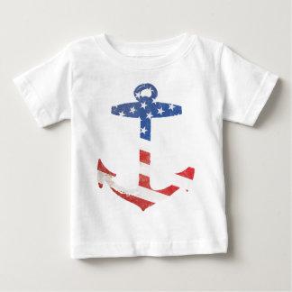 Vintage Patriotic American Flag Anchor Nautical US Tee Shirts