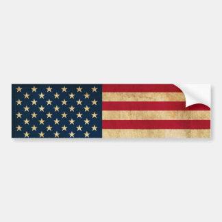Vintage Patriotic American Flag Bumper Sticker