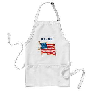 Vintage Patriotic American Flag, Fourth of July Adult Apron