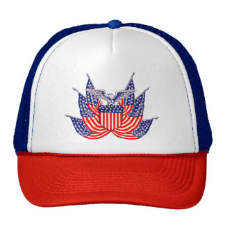 Vintage Patriotic American Flag, Fourth of July Trucker Hat