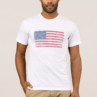 Vintage Patriotic American Flag Weathered Shirts