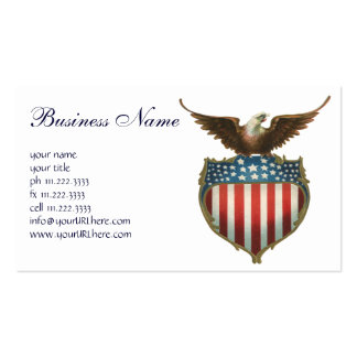 Vintage Patriotic, American Flag with Bald Eagle Business Cards