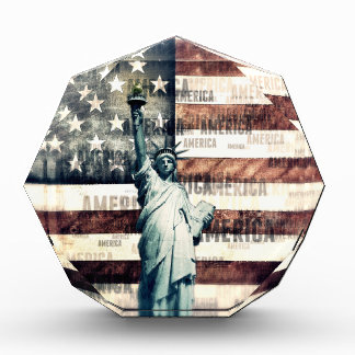 Vintage Patriotic American Liberty Award