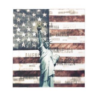 Vintage Patriotic American Liberty Notepad