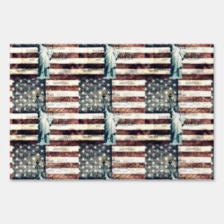 Vintage Patriotic American Liberty Sign
