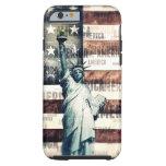 Vintage Patriotic American Liberty Tough iPhone 6 Case