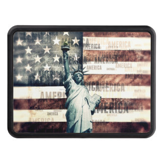 Vintage Patriotic American Liberty Tow Hitch Cover