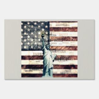 Vintage Patriotic American Liberty Yard Signs