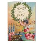 Vintage Patriotic Angel Greeting Card