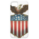 Vintage Patriotic, Bald Eagle with American Flag iPhone 5 Cover