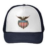 Vintage Patriotic, Bald Eagle with American Flag Mesh Hat