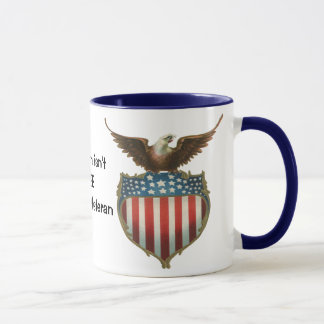 Vintage Patriotic, Bald Eagle with American Flag Mug