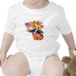 Vintage Patriotic Bear Infant Creeper