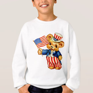 Vintage Patriotic Bear Kids Sweatshirt