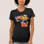 Vintage Patriotic Bear Ladies Petite T-Shirt