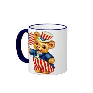 Vintage Patriotic Bear Mug